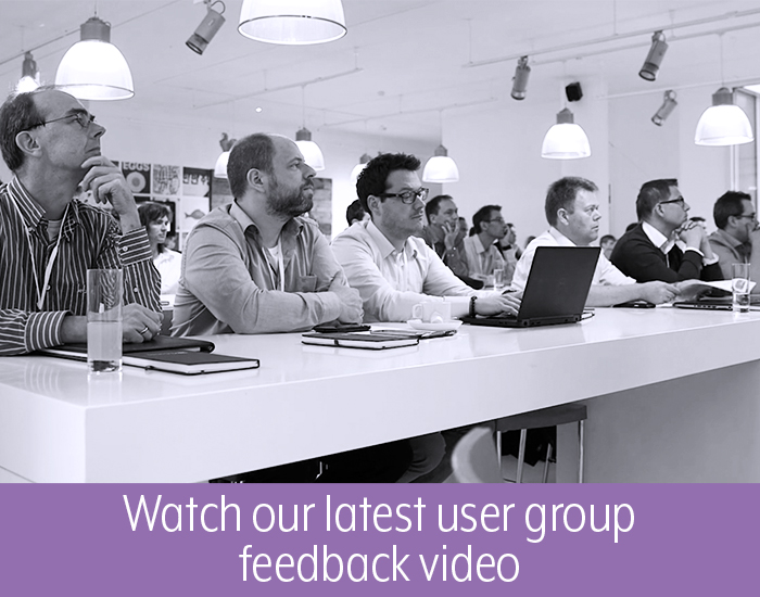 Watch our latest user group feedback video